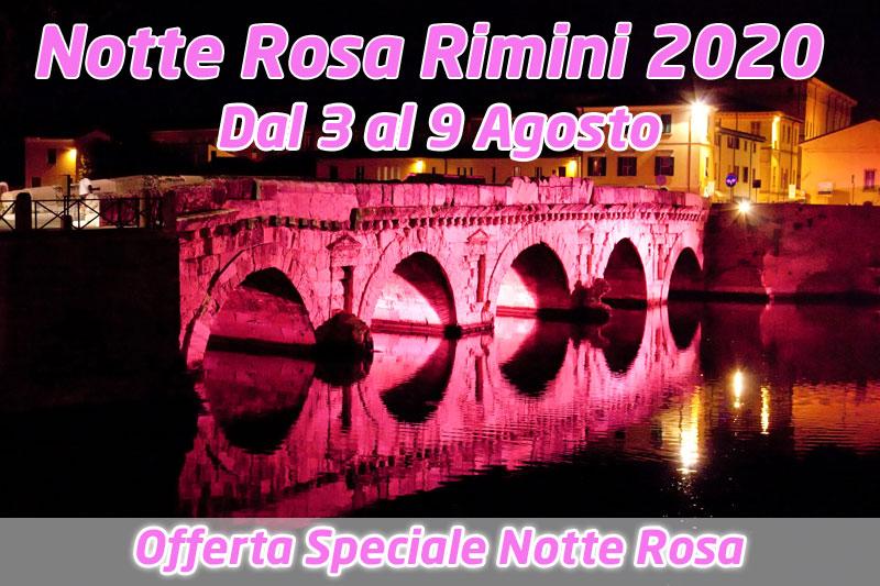 OFFERTA SPECIALE NOTTE ROSA 2020