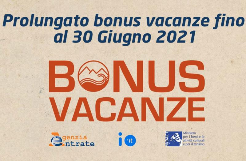 BONUS VACANZE PROROGATO FINO AL 31 DICEMBRE 2021