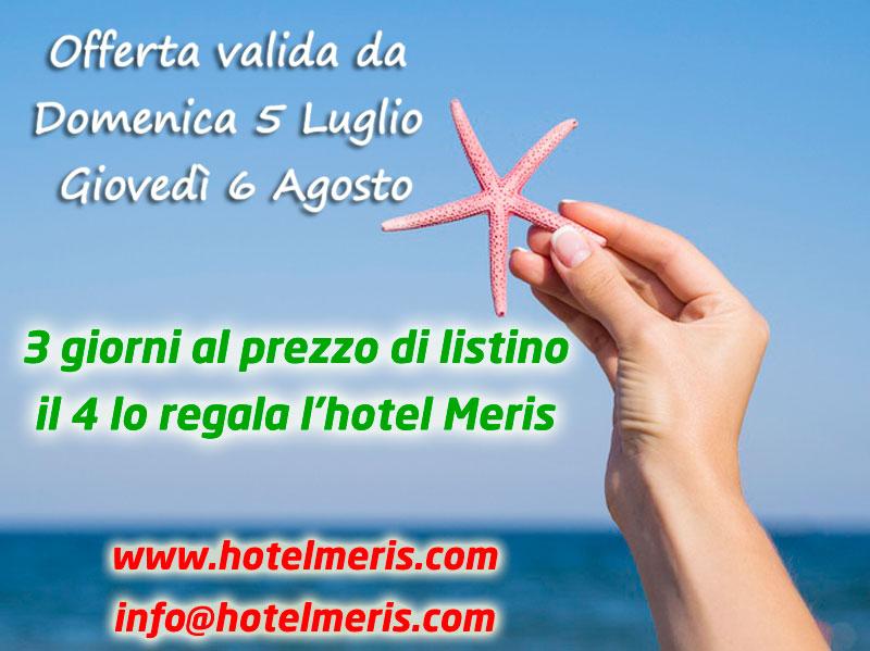 Offerte Luglio Agosto 2020 Hotel Meris